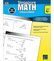 Singapore Math – Challenge Workbook for 4th, 5th, 6th Grade Math, Paperback, Ages 9–12 with Answer Key