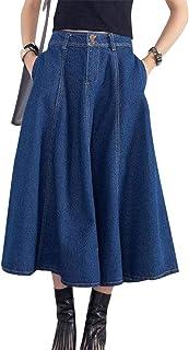 Nouveaux produits c2bb7 5610d Amazon.fr : Jupe Longue Jean