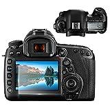 Fotover - Protector de pantalla para cámara Canon EOS 5D MK IV Mark 4, 2 unidades de película de vidrio templado para cámara réflex digital Canon
