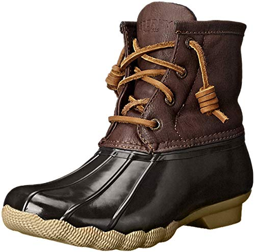 Sperry Saltwater Rain Boot (Little Kid/Big Kid), Brown/Brown, 1 M US Little Kid