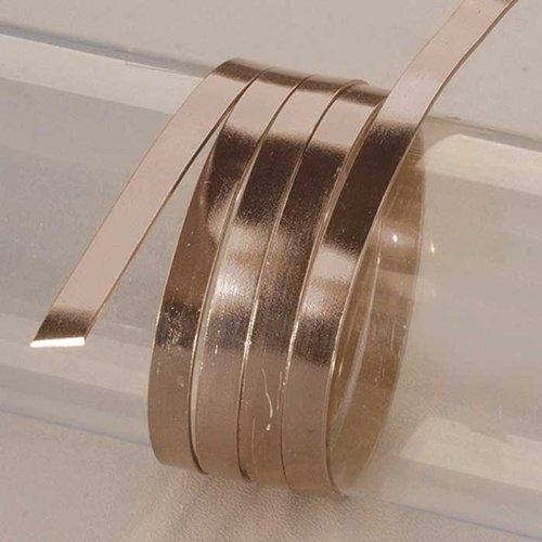 Efco 1x 5mm x 2m filo piatto in alluminio anodizzato, colore: Blu/Nero Dark Brown