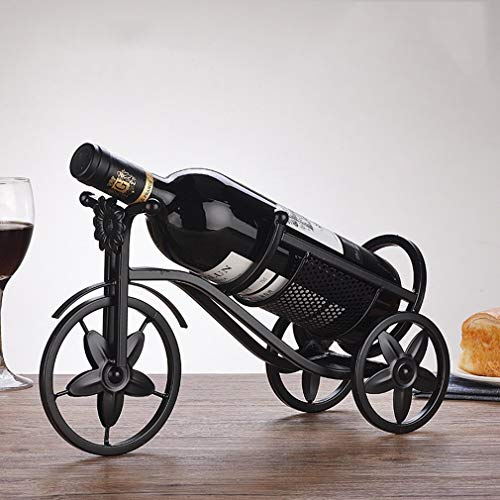 Soporte para botellero, soporte para botella de vino, decoración de adorno, soporte para botella de vino individual, accesorios para botellero vintage para decoración del hogar (tamaño: 33.5 * 12 * 19