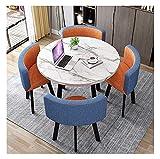 Cocina de mesa de ocio mesa de comedor para cocina o decoración del hotel, mesa redonda y silla de silla mesa de comedor y silla combinación de mesa moderna mesa de ocio mesa mármol de madera mesa red