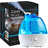 AquaOasis Cool Mist Humidifier {2.2L Water Tank} Quiet Ultrasonic Humidifiers for Bedroom & Large room - Adjustable -360° Rotation Nozzle, Auto-Shut Off, Humidifiers for Babies Nursery & Whole House