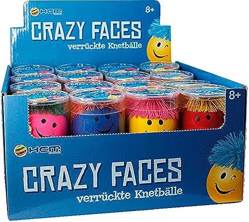 Knetball Gesicht sortiert 32 Stück im Display