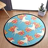 ALINLO Alfombra redonda para niños, diseño de caballo de unicornio con hojas de Marle, alfombra de juegos para bebé, alfombra de gateo para dormitorio, sala de juegos, decoración del hogar 92 cm