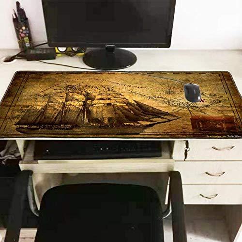 Piratenschiff Große Gaming Mouse Pad Lock Edge Mauspad Für Laptop Computer Tastatur Pad Schreibtisch Pad Mousepad Xxl 300 * 800 * 3 Mm