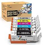 7Magic BCI-380/381(BK/C/M/Y/GY) 6色セット Canon 大容量タイプ 残量表示機能付 キャノン良質互換インクカートリッジ PIXUS TS8130 PIXUS TS8230 PIXUS TS8330 PIXUS TS8430