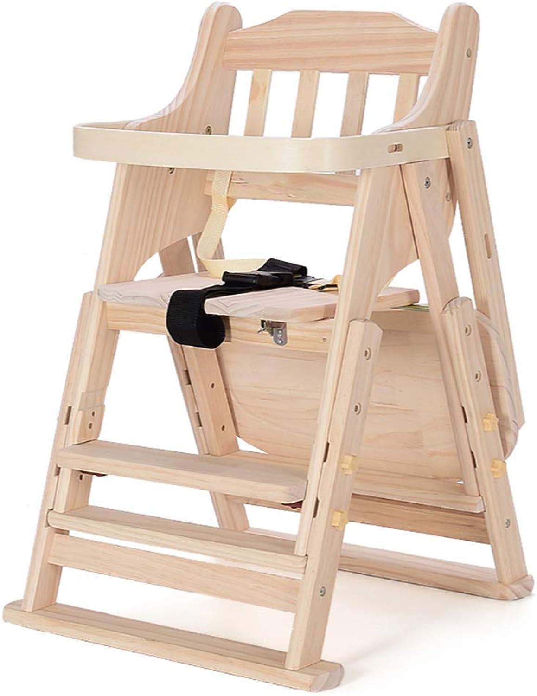 Erhhen Sie den speisenden Stuhl der Babykinder, justierbares bewegliches faltendes Babybaby des festen Holzes, das Tabellenstuhl isst Farbe  A