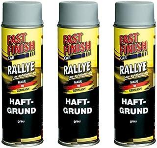 3x 500 ml FAST FINISH Car Rallye Haftgrund Grundierung Grau Spraydose 292811