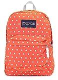Jansport Superbreak Backpack (Tahitian orange white dots)