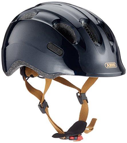 ABUS Smiley 2.0 Royal Kinderhelm - Robuster Fahrradhelm für Kinder - für Mädchen und Jungs - 77542 - Schwarz/Gold, Größe S