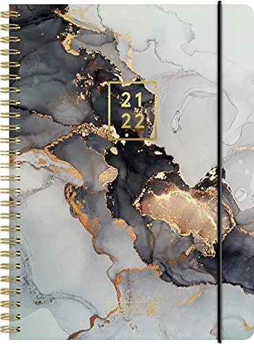 """Brunnen 1072156082 Schülerkalender 2021/2022 (18 Monate) """"Gemstone"""" 2 Seiten = 1 Woche, Blattgröße 14,8 x 21 cm, A5, PP-Einband"""