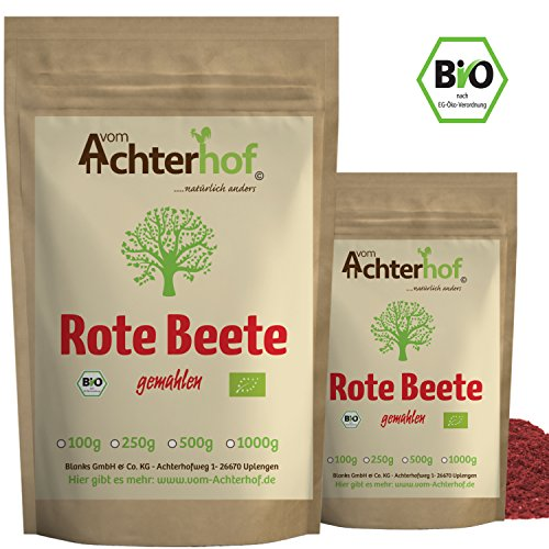 Rote Beete Pulver BIO (100g)   Rohkostqualität   Beetroot Powder organic   vom Achterhof