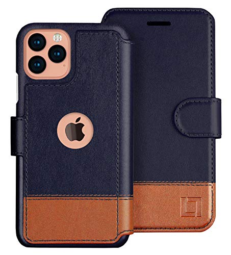 LUPA iPhone 12/12 Pro Wallet Case -Slim iPhone 12/12 Pro Flip Case with Credit Card Holder, for Women & Men, Faux Leather iPhone 12/12 Pro Purse Cases with Magnetic Closure, Desert Sky