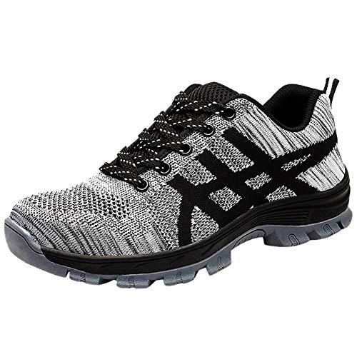 Zapatos Zapatillas De Seguridad para Hombre Trabajo Tapa Acero Industria Calzado Deportiva Antideslizante