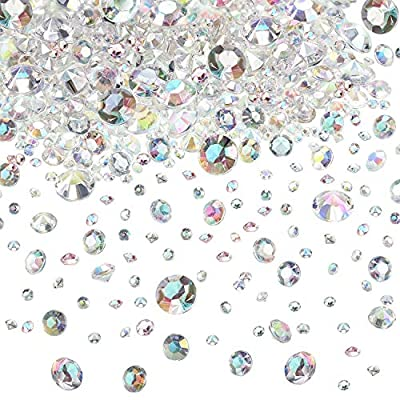 Hicarer 4000 Pieces Table Confetti Wedding Crystals Acrylic Diamonds Rhinestones Vase Fillers for Birthday Baby Shower Party Tables