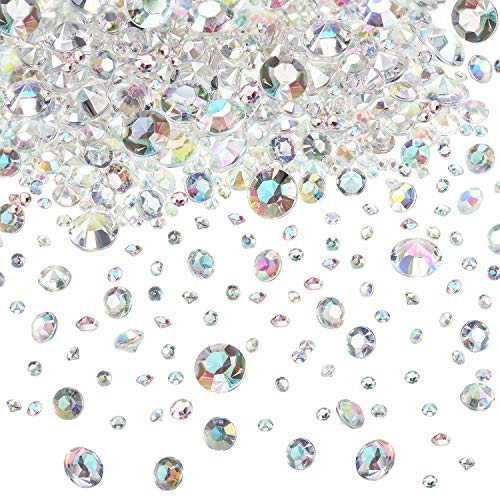 4000 Pieces Table Confetti 3 Sizes Wedding Crystals Acrylic Diamonds Rhinestones Vase Fillers for Birthday Baby Shower Party Tables (Crystal AB)