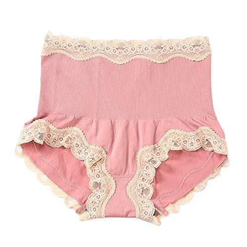 BBRS Bragas de encaje sexy de grafeno de cintura alta para abdomen y caderas, cómodas