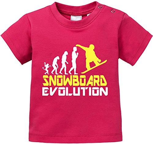 EZYshirt® Snowboard Evolution Baby T-Shirt