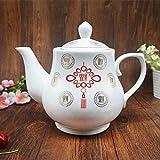 Teteras y jarras de café Servicios de té Platos tetera carafe resistente al calor con filtro cerámico de una sola capacidad de 1 a 2 litros-1 litro