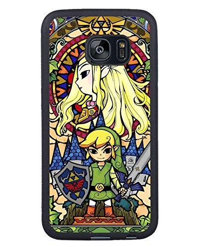 Samsung Galaxy S7 Edge Legend of Zelda Black Shell Phone Case,Unique Cover