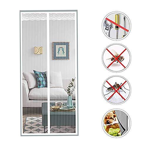 HTDG Magnetisch vliegengaas, voor balkon, muggennet, magnetisch, ramenrand, verstelbaar, muggennet, magnetisch, standaard