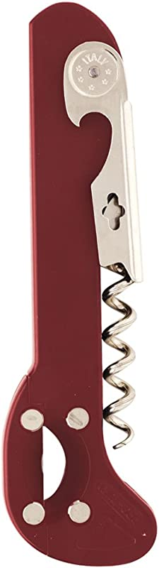 Boomerang Burgundy Waiter S Corkscrew W Built In Foilcutter