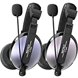 SENICC 3.5mm Stereo Headset with Mic,Over Ear Headphones Wired Gaming Headset with Lightweight Design,Noise Cancelling Musical Earphones for Xbox,Cellphones,MP3,Tablets,Laptop,Desktop Computer
