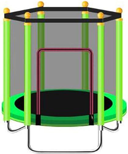 CHENHS-Trampoline for Enfant avec Filet De Sécurité Muet Acier Galvanisé Exercice Aérobie Convient for Une Utilisation en Extérieur Et en Intérieur Sécuritaire Et Durable, 4 Couleurs (Couleur   vert)