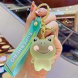 FUZHA Cute Bag Pendant, Animal Key Ring, Transparent Frog Keychains, Door Car Key Ornaments, Fashion Jewelry Keychains(Green)