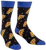 Sock It To Me Men's Fun Crew Socks, Pizza Party