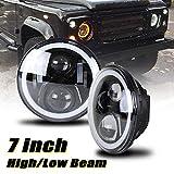 NSLUMO Defender Phare LED 17,8 cm avec faisceau haut et bas pour voiture Projecteur LED de remplacement pour Defender RHD 90 110 2 pièces/kit