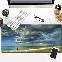 マウスパッド海の風景拡張ゲームエクストララージ防水マウスマット、滑り止めベース、PCコンピュータラップトップ800X300Mm