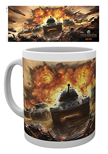 1art1 World of Tanks, Roll Out Foto-Tasse Kaffeetasse (9x8 cm) Inklusive 1x Überraschungs-Sticker