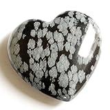 Piedras preciosas corazón, 40 x 15 mm, Obsidiana Nevada
