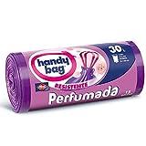 Handy Bag Bolsas de basura perfumadas, 30 l, perfume floral, autocierre, antigoteo, 15 unidades