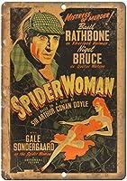 スパイダーウーマンシャーロックホームズポスターバー、書斎、リビングルーム、ダイニングルーム、寝室、カフェのレトロティンメタルサイン