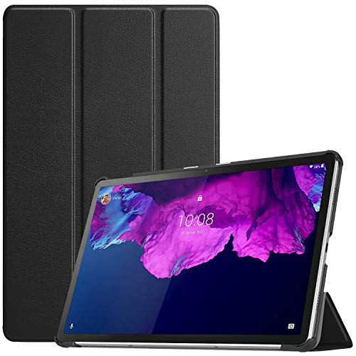 TiMOVO Case Compatible with Lenovo Tab P11(TB-J606F) 2020 Release, Lightweight Slim Tri-fold Shell Leather Case Cover with Auto Wake/Sleep Fit Lenovo Tab P11 11 Inch Tablet, Black
