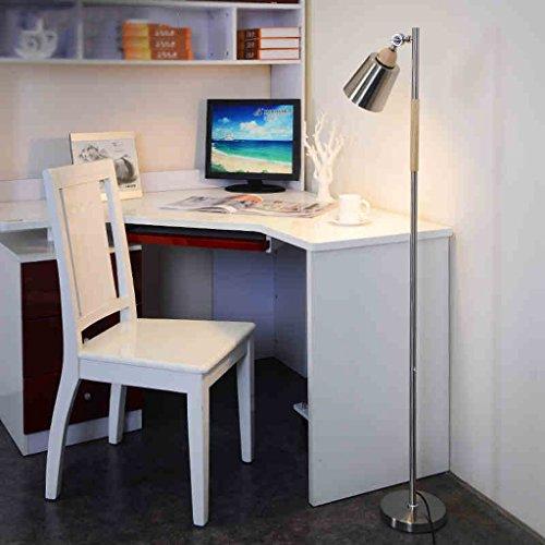 Good thing Lampadaire LED Lampadaire Chambre Salon Étude Vertical Lumière Nordique Lampadaire (Couleur : Silver)