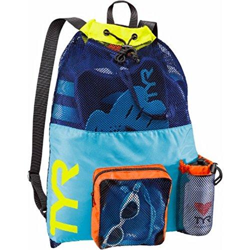 TYR Big Mesh Mummy Backpack, Blue/Yellow, Medium