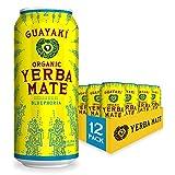 Guayaki Yerba Mate, Organic Drink, Bluephoria, 15.5 Ounce Cans (Pack of 12), 150mg Caffeine, Alternative to Coffee, Tea and Energy Drinks