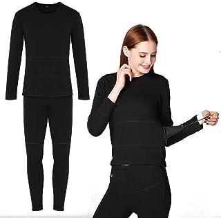 Thermal Underwear for Men Women,Winter Heated Baselayer Clothing Indoor Outdoor Sports Men's Ultra Soft Thermal Underwear ...