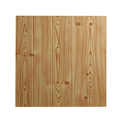 DECOSA Deckenplatten ATHEN in Holz Optik - 16 Platten = 4 m2 - Deckenpaneele in Kiefer Dekor - Decken Paneele aus Styropor - 50 x 50 cm