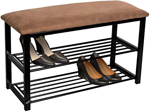 Sorbus Shoe Rack Bench – Shoes Racks Organizer – Perfect Bench Seat Storage for Hallway Entryway, Mudroom, Closet, Bedroom, etc (Brown)