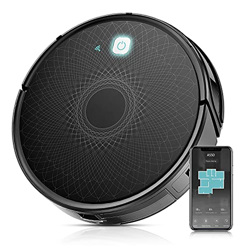 Robot Vacuum, Wi-Fi Connectivity, 1800Pa Powerful Suction, Self-Charging Robotic Vacuum Cleaner, Multiple Cleaning Modes, Best for Pet Hairs, Hard Floor & Medium Carpet