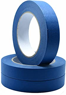 Blue Painter's Tape 3 Rolls, Multi Surface Masking Tape 0.7 Inch x 60 Yard, 180 Yard in Total, Painting and Decoration Sup...