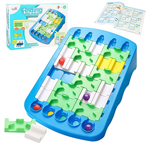 Finding Routes Smart Games Brain Teasers IQ Puzzle and STEM Toy Logic Game Educational Toys for Kids and Adults Travel-Friendly Board Game