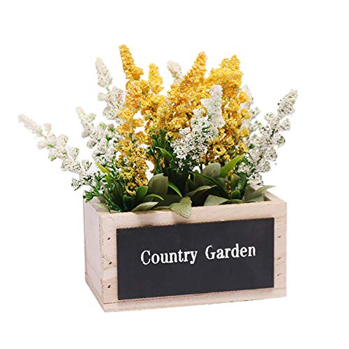 Artificial lavender Bouquet Potted plants lavender Fake Red Flowers Used For Family Outdoor Indoor Garden Family Gathering Wedding Decoration Artificial Plant Bundle Best Gift For Mother'S Day (A)