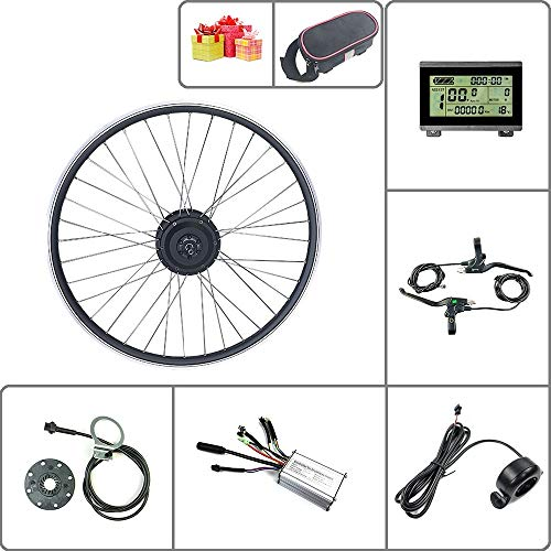 SCHUCK 24V 250W Electric Bike Conversion kit 16' 20' 24' 26' 27.5' 28' 29' 700C Front Wheel Electric Bike with LCD3 Display Bike Conversion kit (24V 250W 700C)